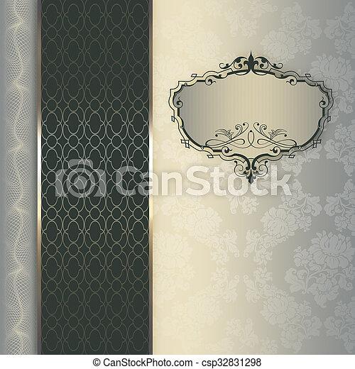 decorativo, elegante, frame., plano de fondo - csp32831298