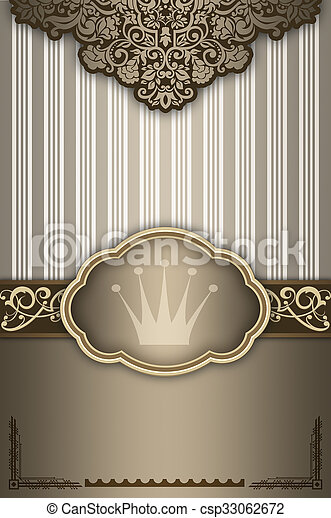 Trasfondo decorativo con marco elegante. - csp33062672