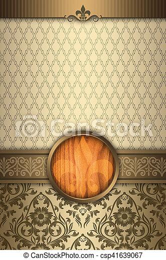 decorativo, elegante, fronteras, frame., plano de fondo - csp41639067