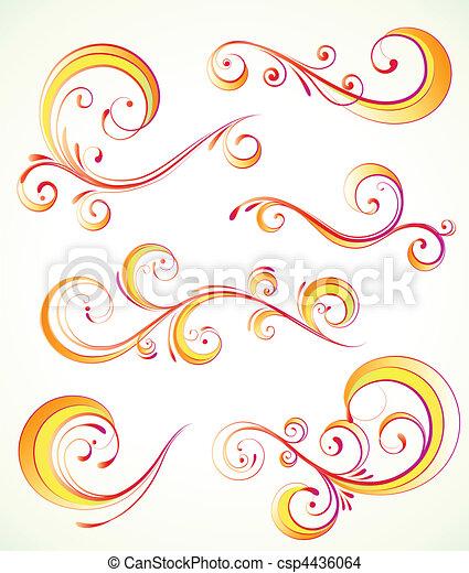 Los elementos florales decorativos - csp4436064