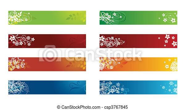 Frontera floral de decoración - csp3767845