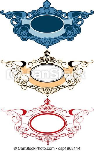 decorativo, etichette, ornamento - csp1963114