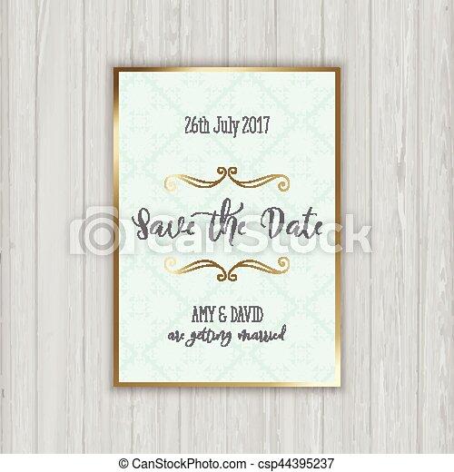 La decoración ahorra la invitación para la fecha - csp44395237