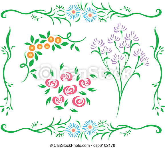 decorativo, fiore, disegno - csp6102178