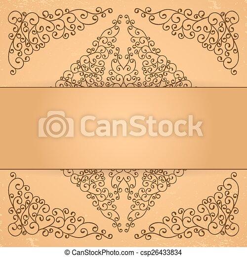 Los elementos florales decorativos. - csp26433834