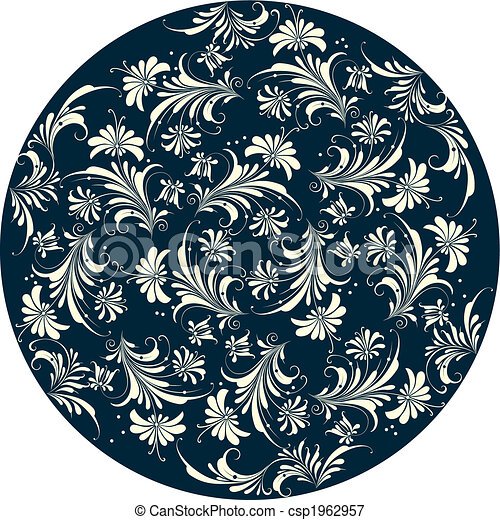 decorativo, floral, fundo - csp1962957