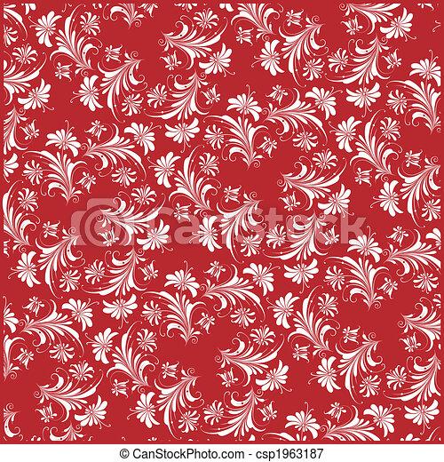 decorativo, floral, fundo - csp1963187