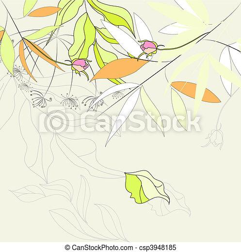 decorativo, floreale, fondo - csp3948185