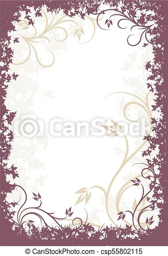 decorativo, floreale, fondo. - csp55802115