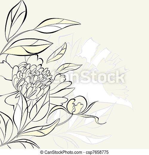 decorativo, floreale, fondo - csp7658775