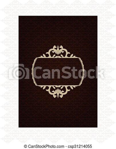 Trasfondo decorativo marrón - csp31214055