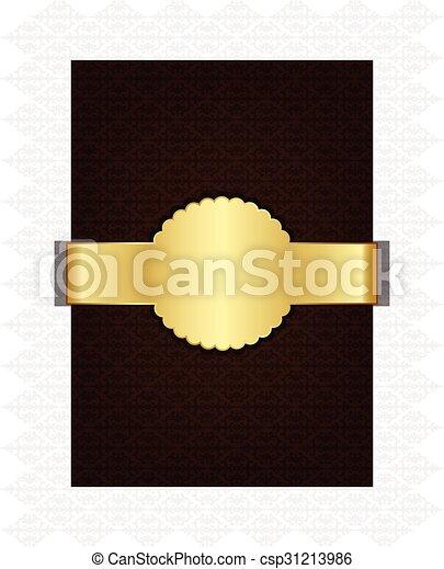 Trasfondo decorativo marrón - csp31213986