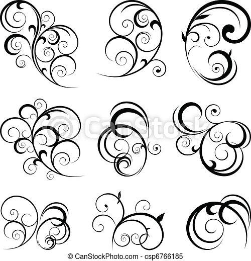 Formas de pergamino decorativo - csp6766185