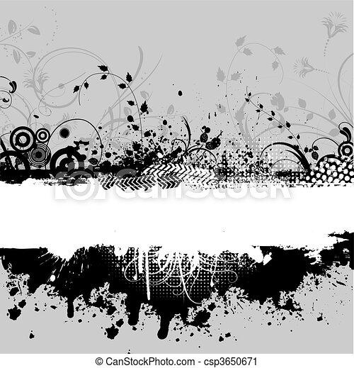 decorativo, grunge - csp3650671
