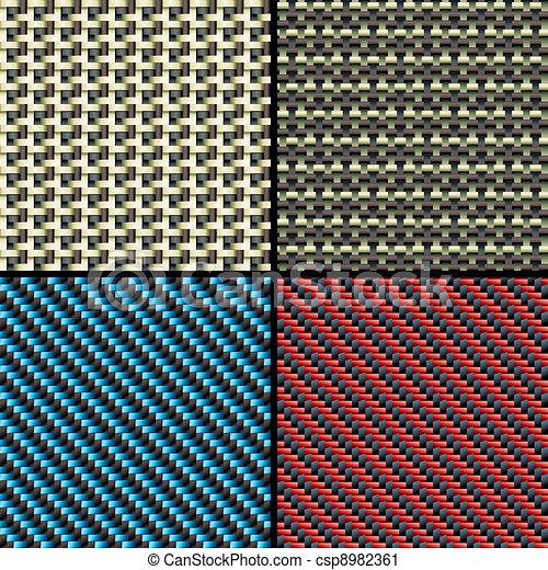 Fibra de carbono, kevlar y patrones decorativos sin costura - csp8982361