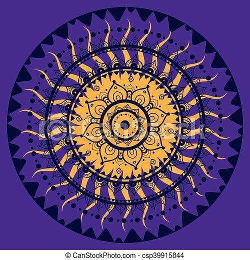 Mandala. Patrón decorativo indio. - csp39915844