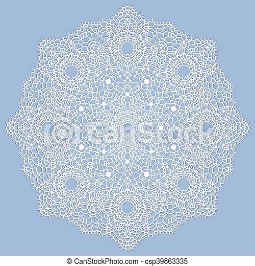 Mandala. Patrón decorativo indio. - csp39863335