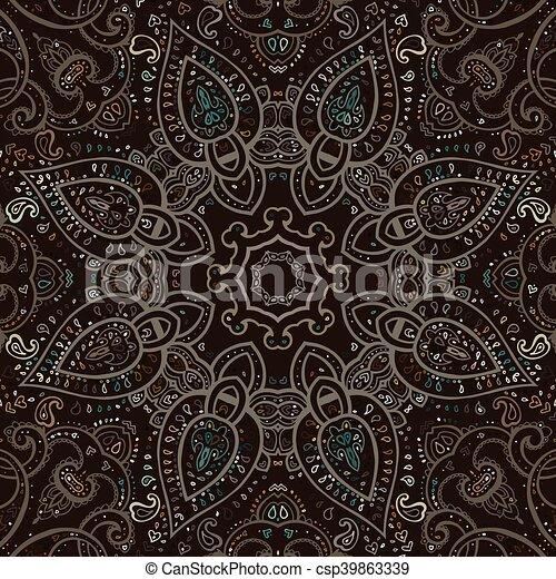 Mandala. Patrón decorativo indio. - csp39863339