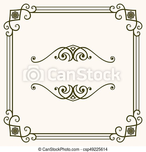 Un marco decorativo - csp49225614