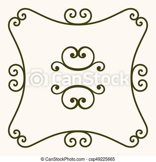 Un marco decorativo - csp49225665