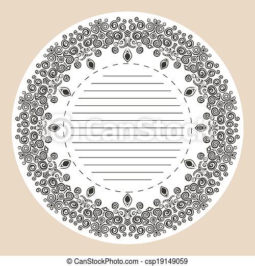 Un marco decorativo - csp19149059