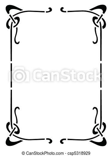 Un marco decorativo - csp5318929