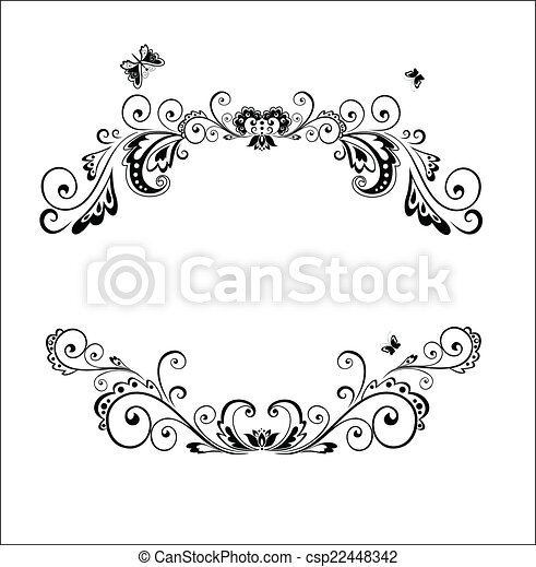 Un marco decorativo - csp22448342