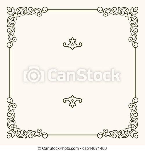 Un marco decorativo - csp44871480