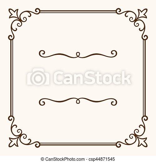Un marco decorativo - csp44871545