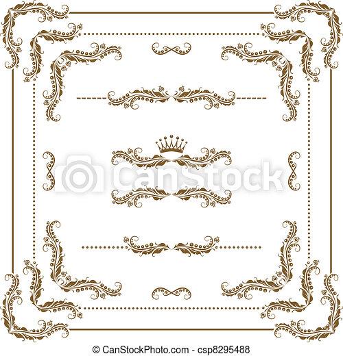 Un marco decorativo - csp8295488