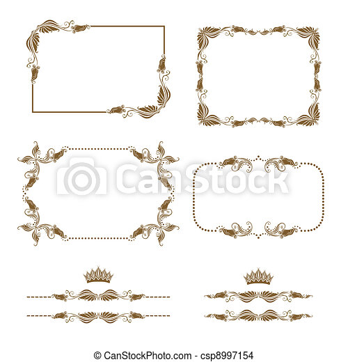 Un marco decorativo - csp8997154