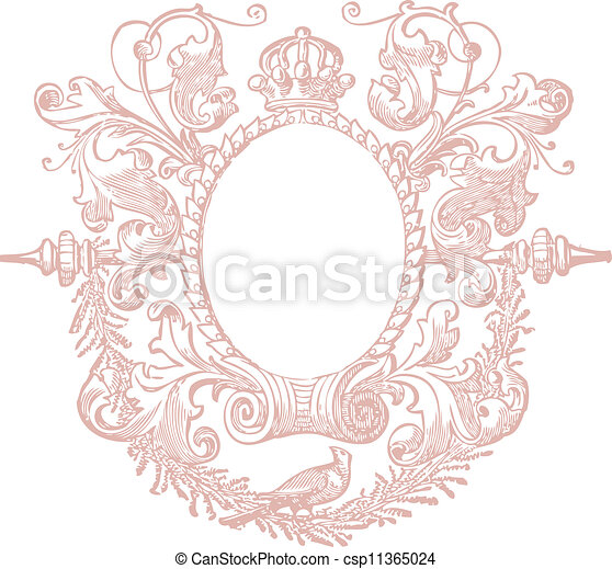 Un marco decorativo - csp11365024