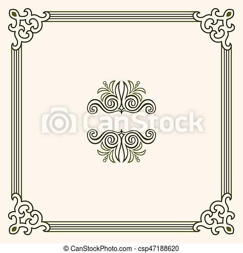 Un marco decorativo - csp47188620