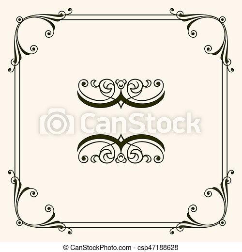 Un marco decorativo - csp47188628