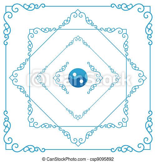 Un marco decorativo - csp9095892