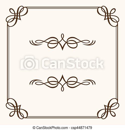 Un marco decorativo - csp44871479