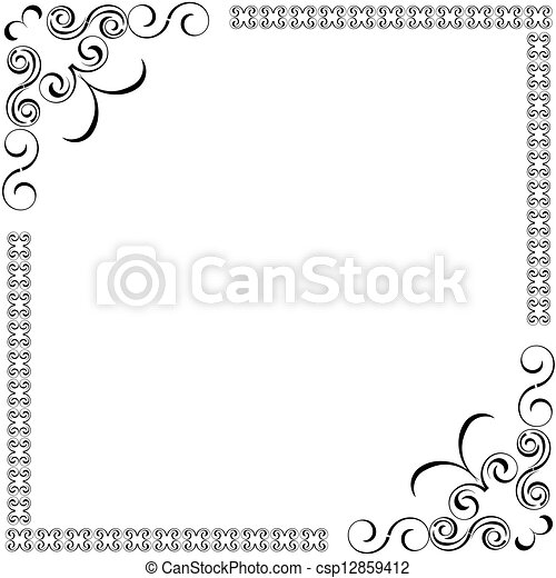 Decorativo, marcos, vector clip art vectorial - Buscar ilustraciones ...