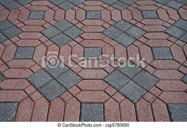 Un patio con ladrillos decorativos - csp5780690