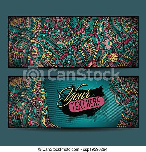 decorativo, ornamental, abstratos, fundos, vetorial, étnico - csp19590294