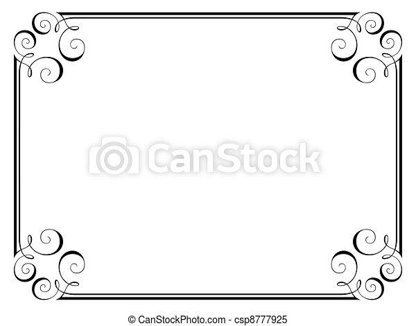 Un marco decorativo de caligrafía - csp8777925