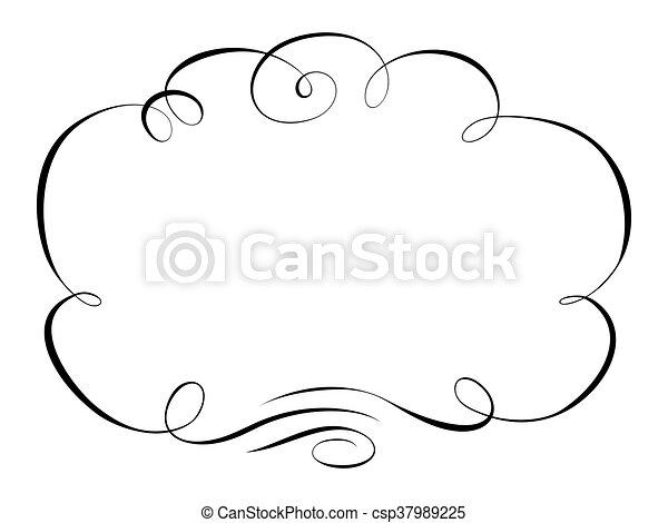 decorativo, ornamental, quadro, caligrafia - csp37989225