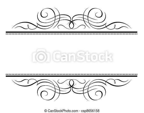 decorativo, ornamentale, cornice, vignette, calligrafia, calligrafia - csp8656158