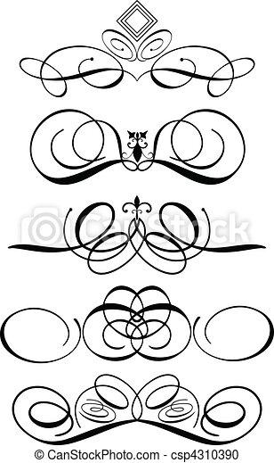 Ornamentos decorativos - csp4310390
