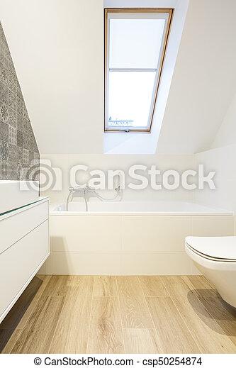 Decorativo, pared, cuarto de baño, minimalista. Decorativo ...