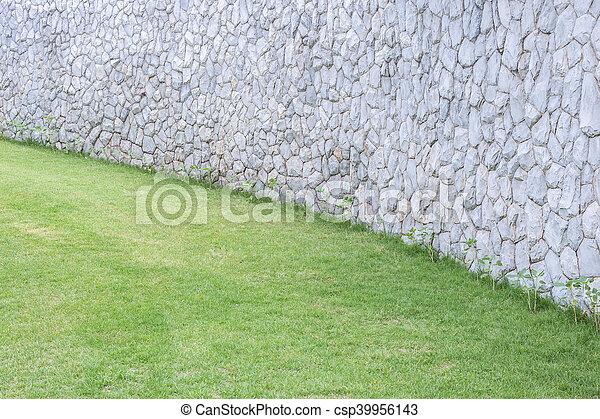 Exterior Decoración De Muros De Piedra En El Jardín