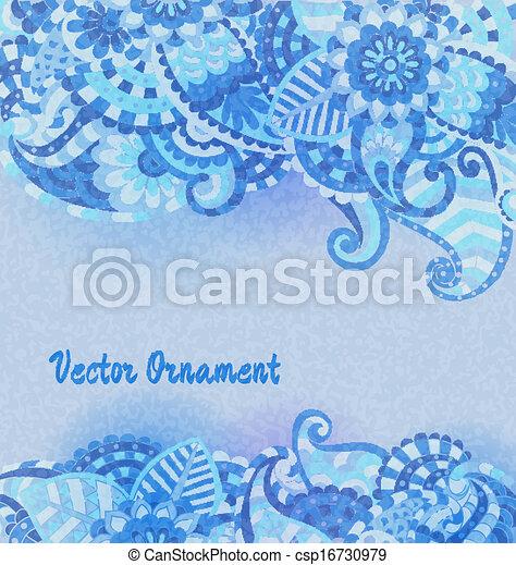 Un patrón antiguo de vector. Trasfondo abstracto dibujado a mano. Estandarte retro decorativo. Puede usarse como pancarta, invitación, tarjeta de boda, álbumes de recortes y otros. Diseño de vectores reales. - csp16730979