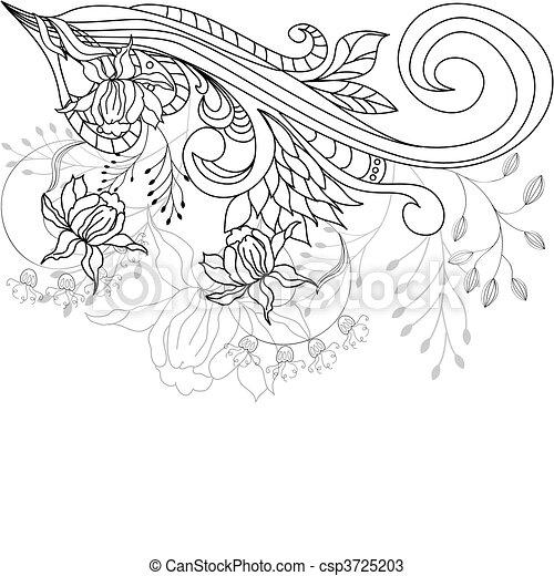 decorativo, plano de fondo - csp3725203