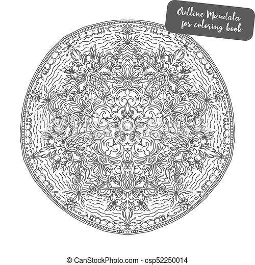 Decorativo Poster Desenho Meditacao Mandala Element