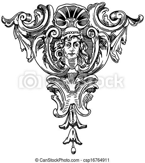 decorativo, predios, (ukraine), elemento, histórico, fachada, lviv - csp16764911
