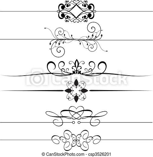 Reglas decorativas - csp3526201
